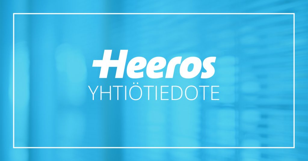 Heeros Oyj:n liiketoimintakatsaus 1.1.–31.3.2021