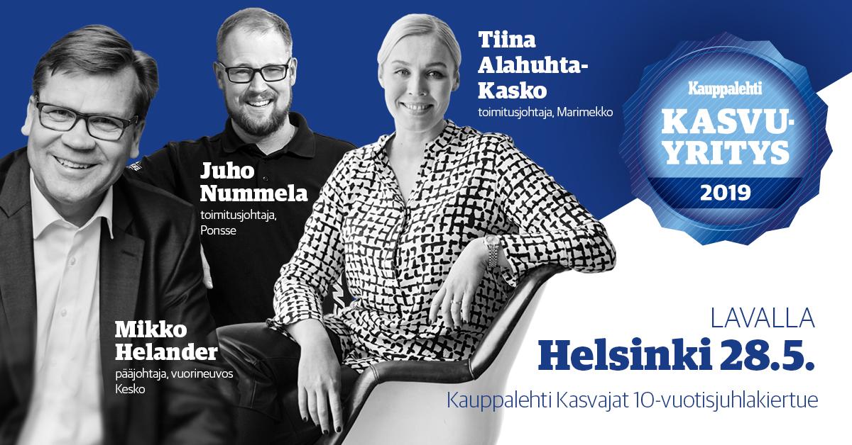 Heeros mukana Kauppalehti Kasvajat -kiertueella syyskuussa